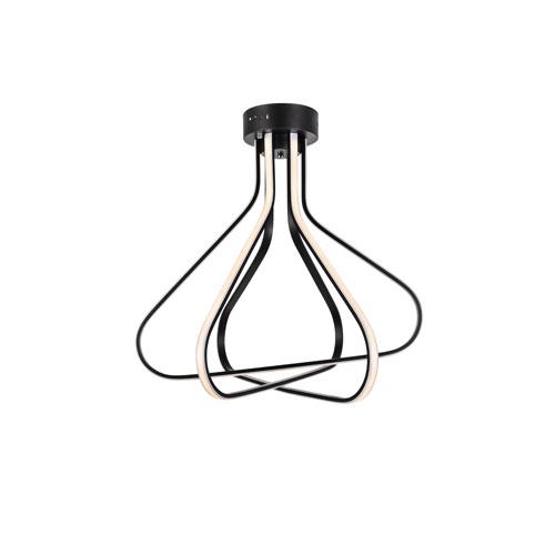 Dahlia Black 27-Inch Three-Light LED Flush Mount