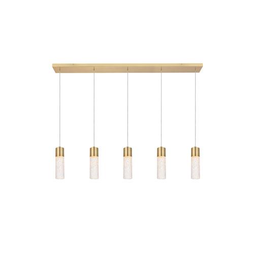 Constellation Gold Five-Light LED Pendant