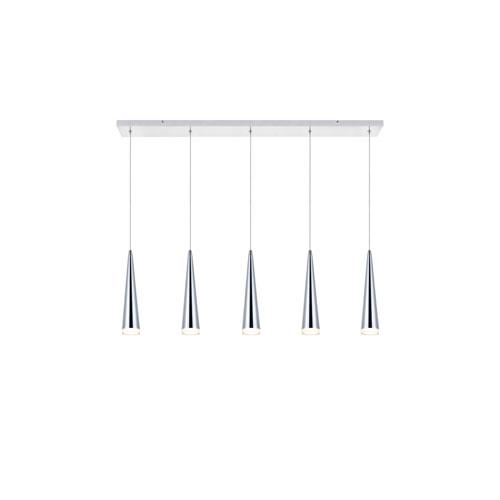 Fantasia Chrome Five-Light LED Pendant