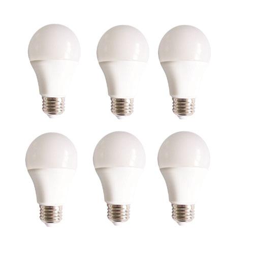 Vertis Frosted White 3000K LED Light Bulb, Set of Six