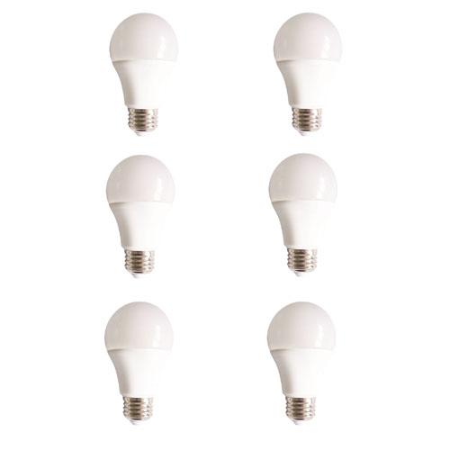 Vertis Frosted White 5000K LED Light Bulb, Set of Six