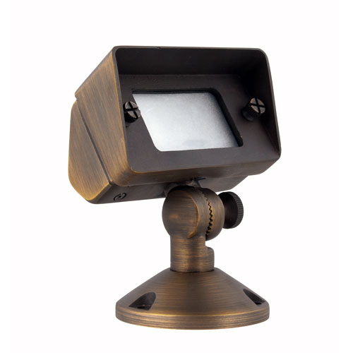 Aera Antique Brass Two-Inch One-Light Landscape Light