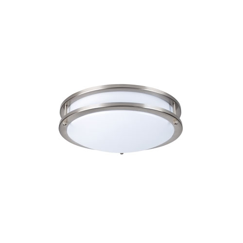 Ripple Brushed Nickel 12-Inch 5000K LED Flush Mount