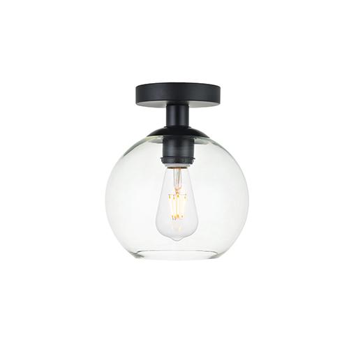 Baxter Black Seven-Inch One-Light Semi-Flush Mount