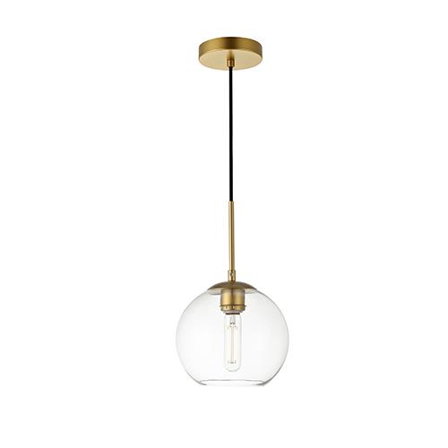 Baxter Brass Seven-Inch One-Light Mini Pendant