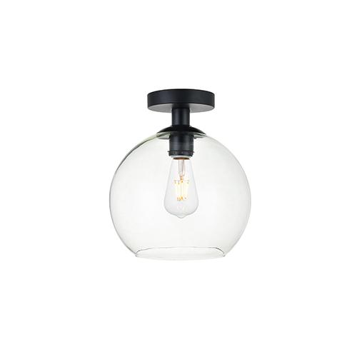 Baxter Black Nine-Inch One-Light Semi-Flush Mount