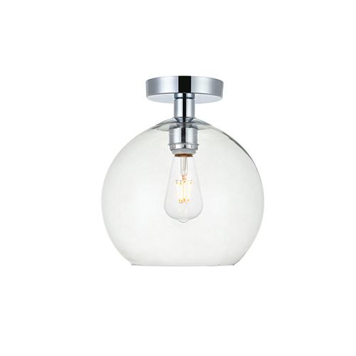 Baxter Chrome Nine-Inch One-Light Semi-Flush Mount