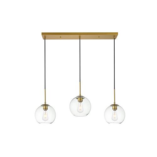 Baxter Brass Seven-Inch Three-Light Mini Pendant