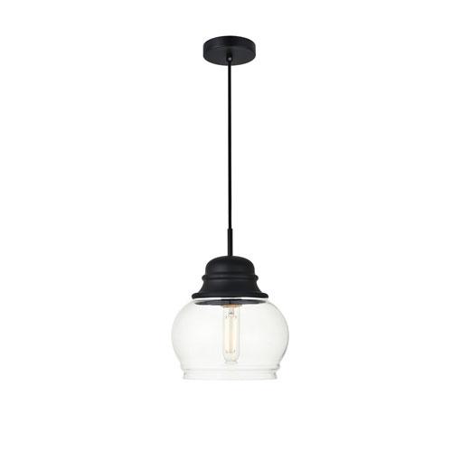 Kenna Black Eight-Inch One-Light Mini Pendant