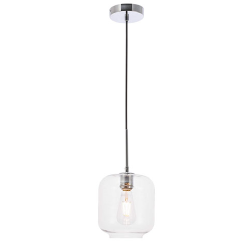 Collier Chrome Seven-Inch One-Light Mini Pendant with Clear Glass