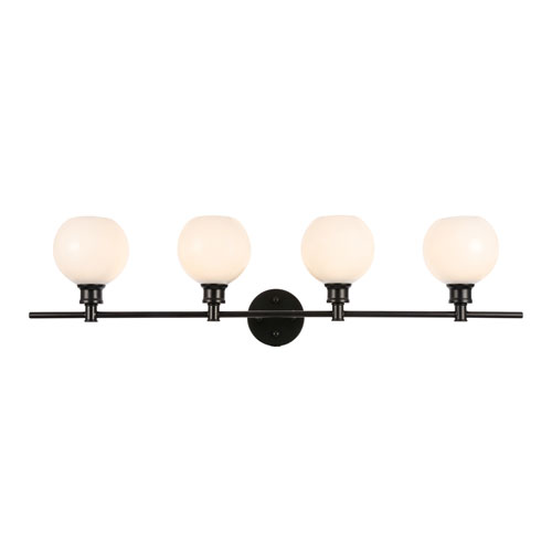 Collier Black Four-Light Bath Vanity