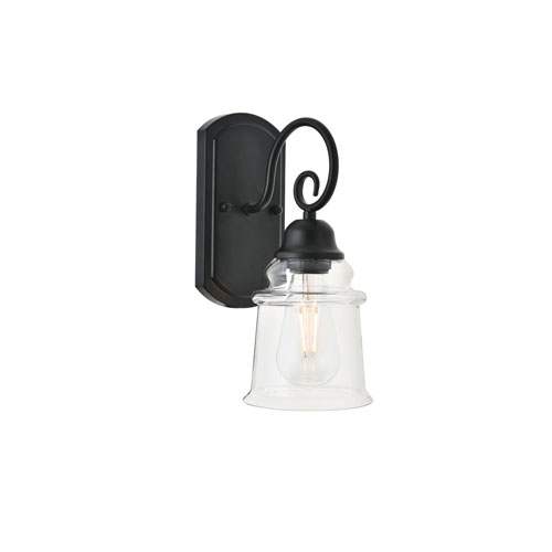 Spire Black Five-Inch One-Light Wall Sconce