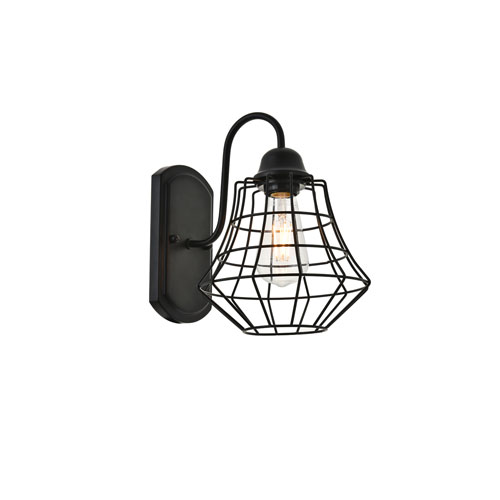 Candor Black Eight-Inch One-Light Wall Sconce