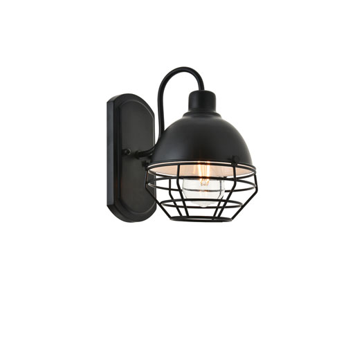 Gibil Black Seven-Inch One-Light Wall Sconce