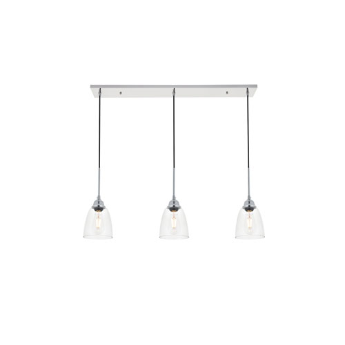 Felicity Chrome 38-Inch Three-Light Pendant