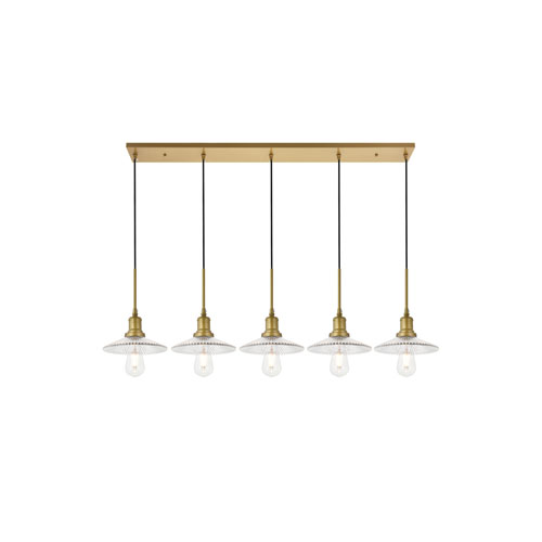 Waltz Brass Five-Light Pendant