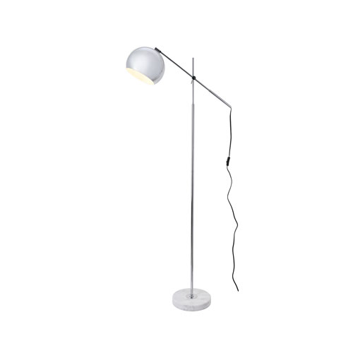 Aperture Chrome and White 11-Inch One-Light Floor Lamp