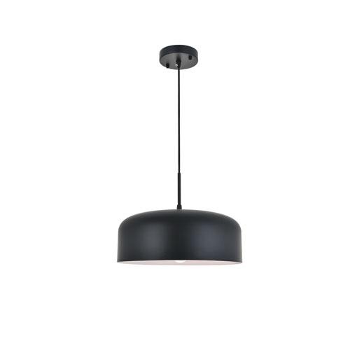 Etude Black 14-Inch One-Light Pendant