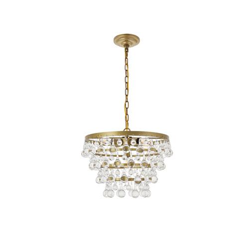 Kora Brass 17-Inch Five-Light Pendant