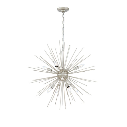 Timber Champagne 30-Inch Eight-Light Pendant