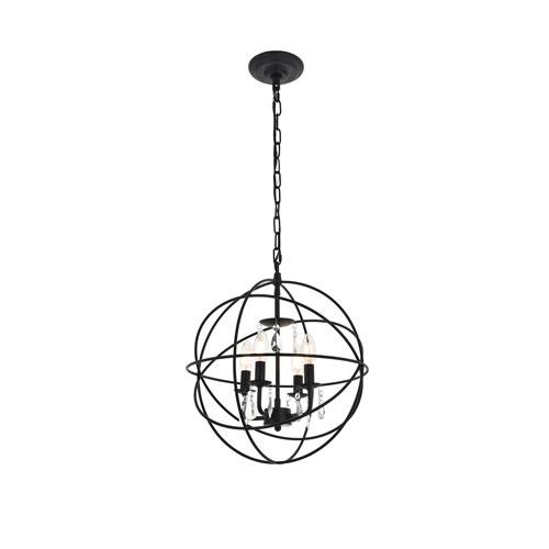 Wallace Matte Black 16-Inch Four-Light Pendant