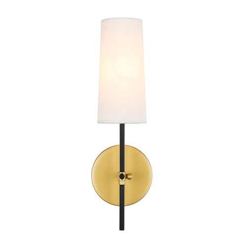 Mel Brass and Black Five-Inch One-Light Wall Sconce