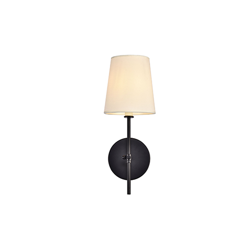 Mel Black One-Light Wall Sconce