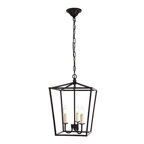 Elegant Lighting Maddox Black Three-Light Pendant