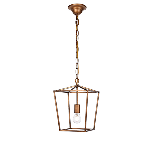 Maddox Vintage Gold One-Light Mini Pendant