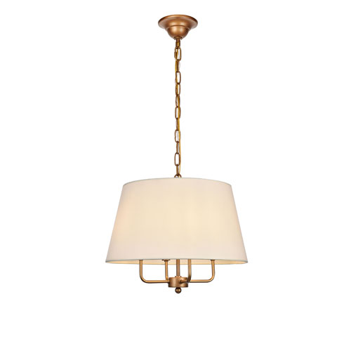 Maple Gold Four-Light Pendant