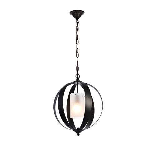 Marion Black 15-Inch One-Light Pendant