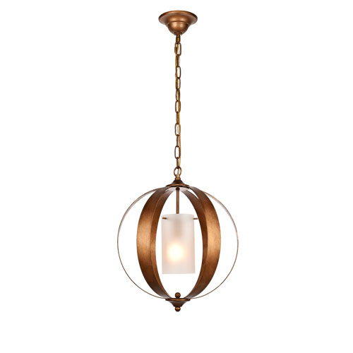 Marion Vintage Gold 15-Inch One-Light Pendant