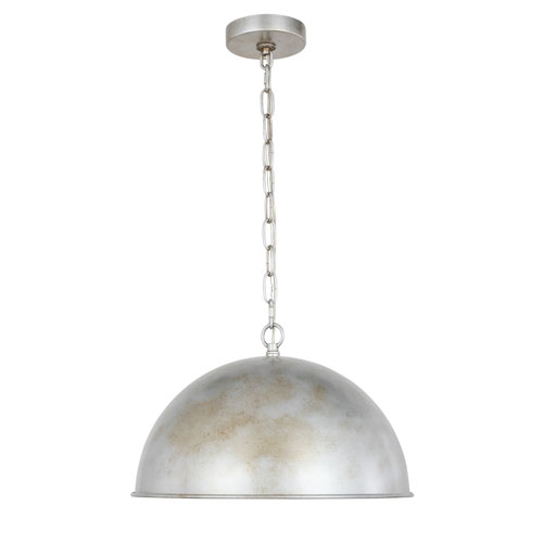 Merce Vintage Silver 15-Inch One-Light Pendant