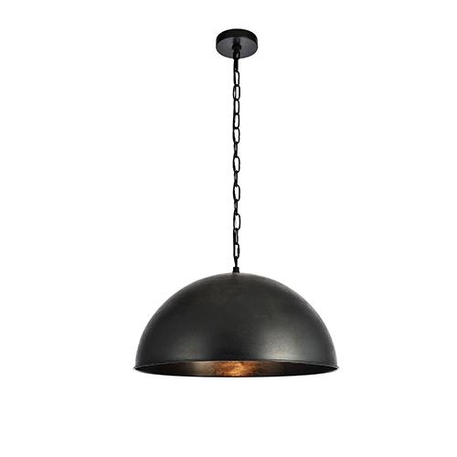 Merce Vintage Black 20-Inch One-Light Pendant