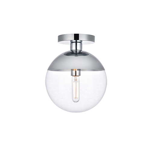 Eclipse Chrome 10-Inch One-Light Semi-Flush Mount