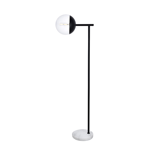 Eclipse Black 50-Inch One-Light Floor Lamp