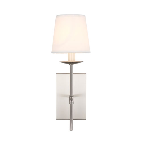 Eclipse Burnished Nickel Five-Inch One-Light Wall Sconce