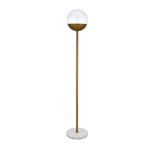 Eclipse Brass 62-Inch One-Light Floor Lamp