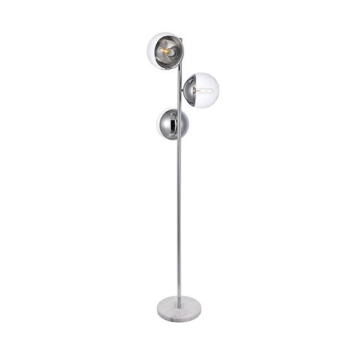 Eclipse Chrome Three-Light Floor Lamp