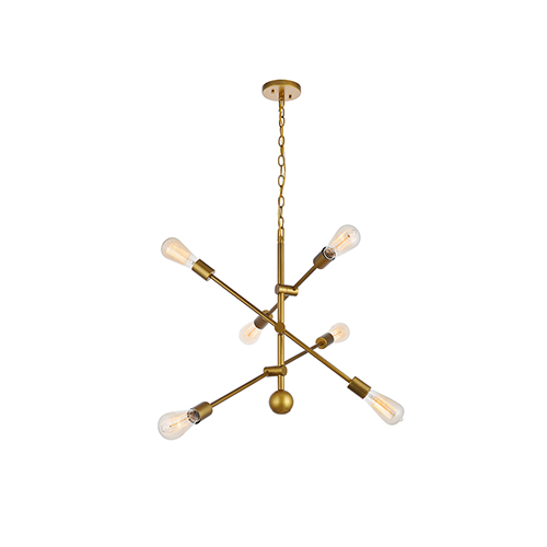 Axel Brass 29-Inch Six-Light Pendant