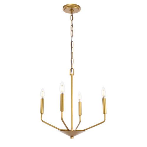 Enzo Brass Four-Light Pendant