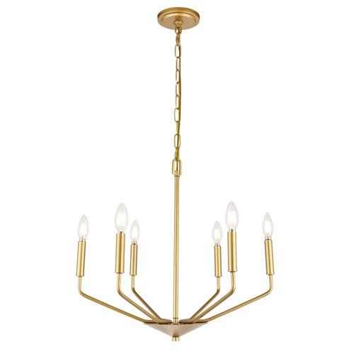 Enzo Brass Six-Light Pendant