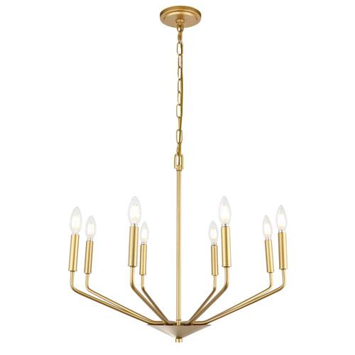 Enzo Brass Eight-Light Pendant