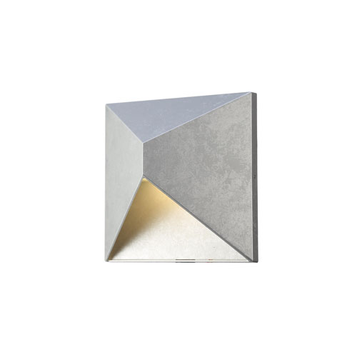 Olympos Silver 8-Inch LED Outdoor Wall Sconce
