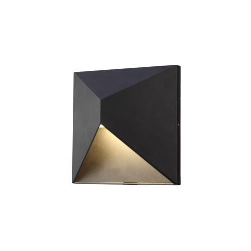 Olympos Black 8-Inch LED Outdoor Wall Sconce