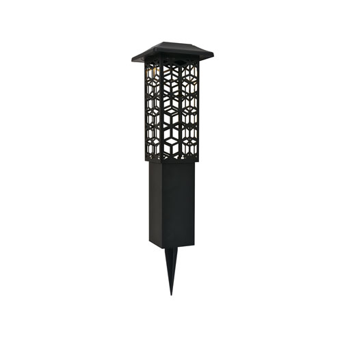 Astral Black Seven-Inch LED Outdoor Path Light, Pack of Two