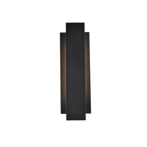 Raine Black 100 Lumens 12-Light LED Outdoor Wall Sconce