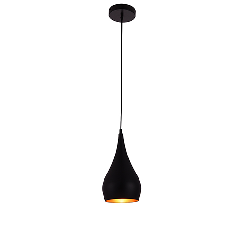 Nora Black Six-Inch One-Light Mini Pendant