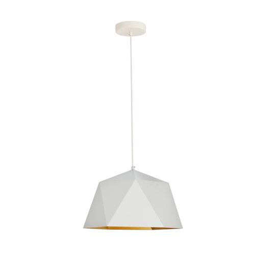 Arden White 15-Inch One-Light Pendant