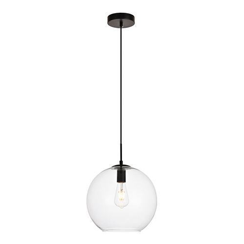 Placido Black 11-Inch One-Light Pendant